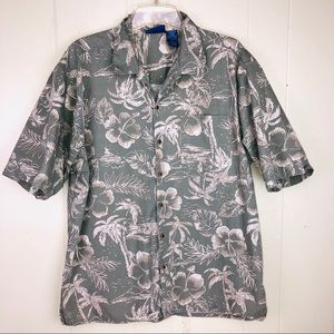 Ocean pacific Hawaiian shirt Lg